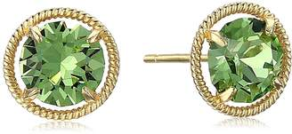 Swarovski Amazon Collection 10k Gold Made with Birthstone May Stud Earrings