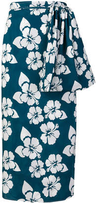 Simonetta Ravizza floral-print midi wrap skirt