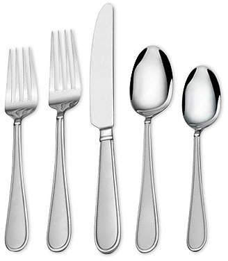 Mikasa 18/0 Stainless Steel 20-Pc. Westfield Frost Flatware Set, Service for 4