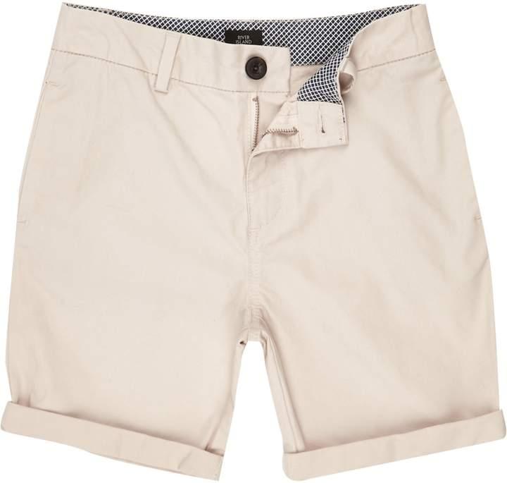 Boys Beige chino shorts