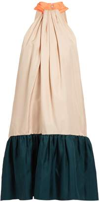 Roksanda Eliva hatlerneck silk-twill dress