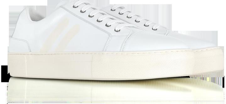 Neil Barrett White/Off White Nappa Leather Skateboard Sneakers