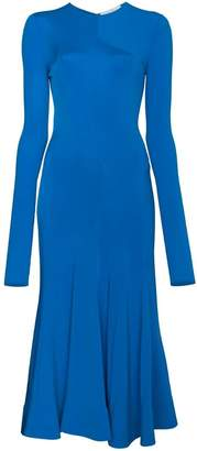 Esteban Cortazar long sleeve fitted full circle dress