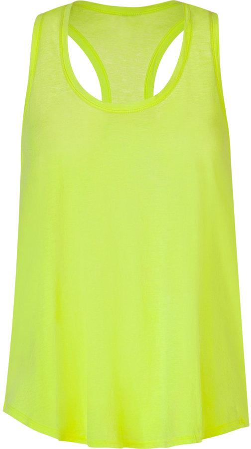 Splendid Neon Yellow Vintage Whisper Racerback Top