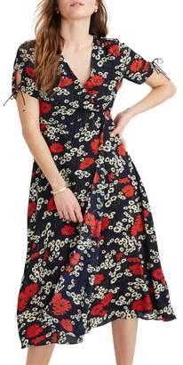 Madewell Hillside Daisies Peekaboo Sleeve Midi Dress (Regular & Plus Size)