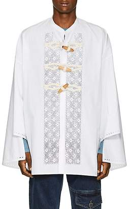 J.W.Anderson Men's Floral-Embroidered Cotton Tunic Shirt