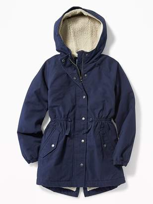 Old Navy Sherpa-Lined Twill Field Jacket for Girls