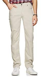 Marco Pescarolo Men's Stretch Cotton-Silk Five-Pocket Pants - Gray