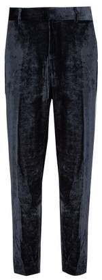 Sies Marjan - Toby Silk Blend Ribbed Velvet Trousers - Mens - Grey