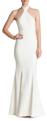 Dress the Population Taylor Halter Top Crepe Bodycon Gown