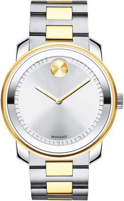Movado Bold 42.5mm Bold Stainless Steel Watch, Silver