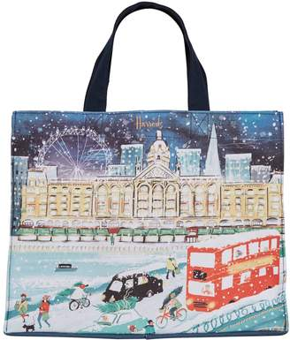 Harrods Travelling Home For Christmas Grocery Shopper Bag