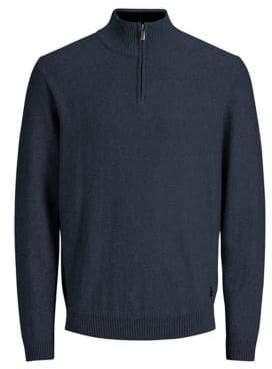 Jack and Jones Montario Half-Zip Cotton Sweater