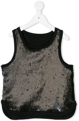 Andorine cropped sequin top