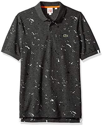 Lacoste Men's LVe Short Sleeve All-Over Printed Polo-Regular Fit