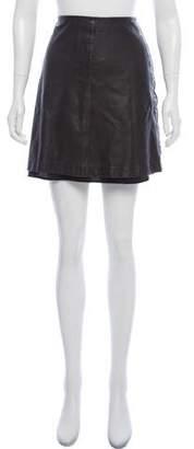 Tory Burch Leather Mini Skirt