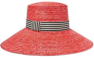 Eugenia Kim Annabelle Grosgrain-trimmed Straw Hat - Red