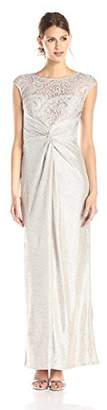Adrianna Papell Women's Long A-Line Gown,2