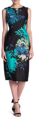 Gabby Skye Sleeveless Floral Print Scuba Dress