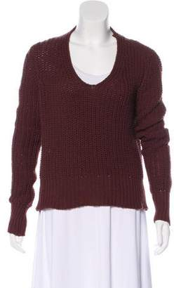 Rick Owens Virgin Wool Rib Knit Sweater