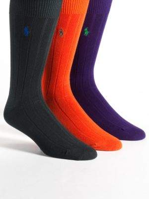 Polo Ralph Lauren Ribbed Socks Three-Pack