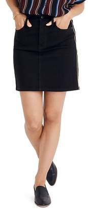 Madewell Gold Piping Straight Stretch Denim Miniskirt