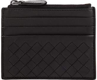 Bottega Veneta Men's Intrecciato Top Zip Card Case