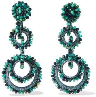 Bibi Marini - Sundrop Bead And Silk Earrings - Turquoise