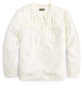 J.Crew Point Sur Silk Popover Blouse