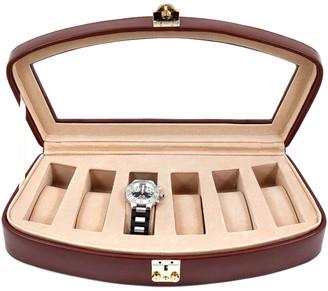 Bey-Berk Leather 6-Watch Case
