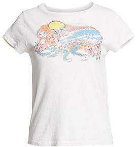 RE/DONE Women's The Slim Psychedelic Surf Tee
