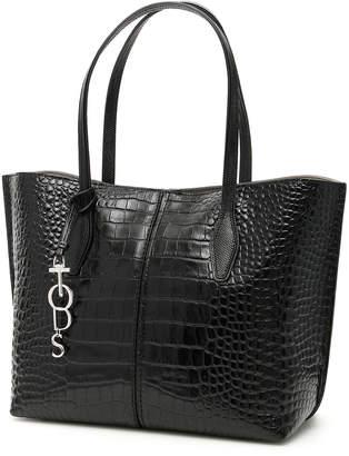 Tod's Tods Croc Print Medium Joy Tote Bag