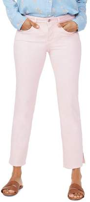 NYDJ Marilyn Cropped Straight-Leg Jeans in Pink Dusk