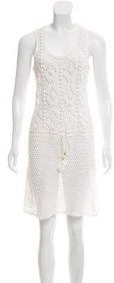 Tory Burch Crochet Fishnet Dress