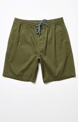PacSun Twill Olive Drawstring Shorts