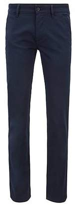 HUGO BOSS Overdyed slim-fit trousers with double belt loops