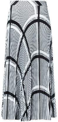 MSGM keffiyeh print pleated skirt
