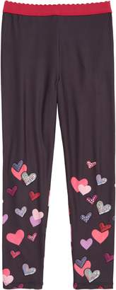 Truly Me Crystal Embellished Heart Leggings