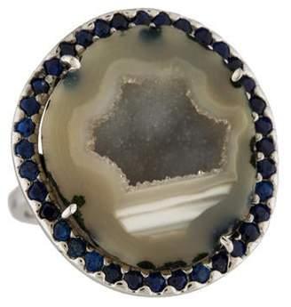 Kimberly McDonald 18K Geode & Sapphire Ring