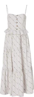 Ganni Sleeveless Midi Dress