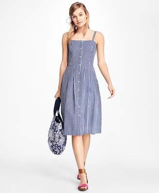 Gingham Cotton Poplin Dress $78 thestylecure.com