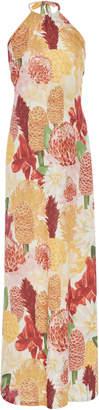 Agua de Coco Floral-Print Halter Maxi Dress