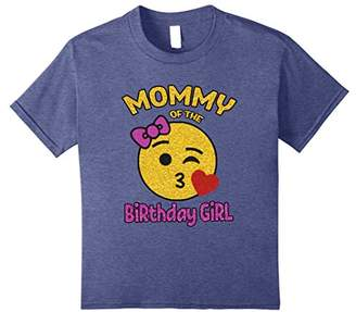 Mother of the Birthday Girl Emoji Shirt Kiss Heart Tee