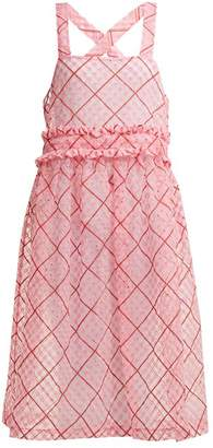 Shrimps - Viola Embroidered Cotton Blend Organza Dress - Womens - Pink