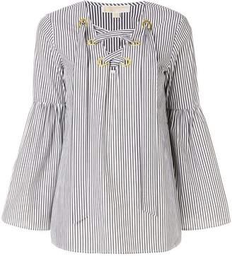 MICHAEL Michael Kors striped bell sleeve tunic top
