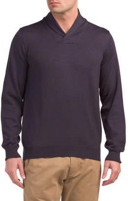 Made In Italy Merino Wool Shawl Sweater