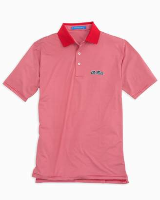 Southern Tide Gameday Feeder Stripe Polo - University of Mississippi
