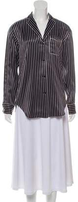 Rag & Bone Silk Striped Pajama Blouse w/ Tags