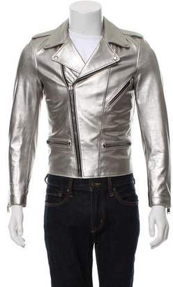 Saint Laurent 2014 Leather Metallic Jacket