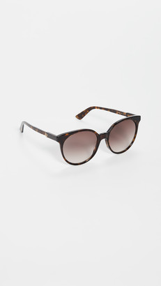 Gucci Light Acetate Round Sunglasses